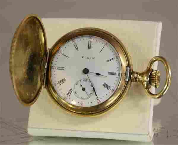 Ladies Elgin Hunting Case Pocket Watch