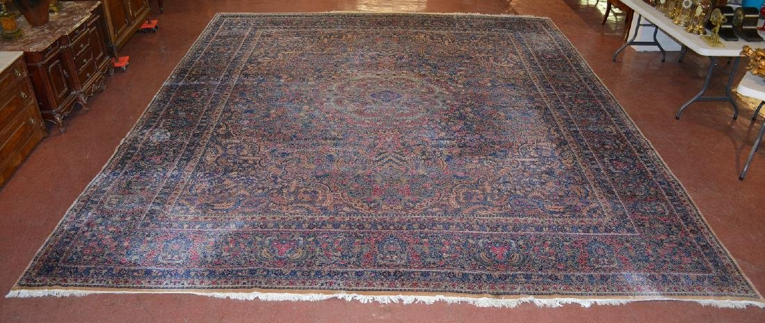Rare Antique Persian Style Rabar Kerman Palatial