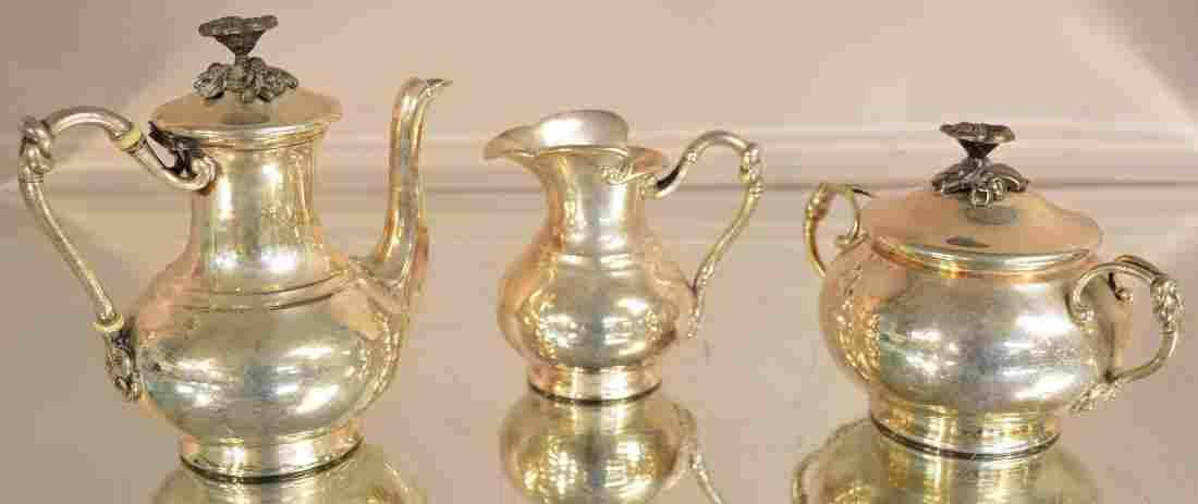 French Three Piece Christofle Tea Set