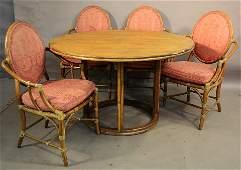 McGuire Five Piece Dining Room Set