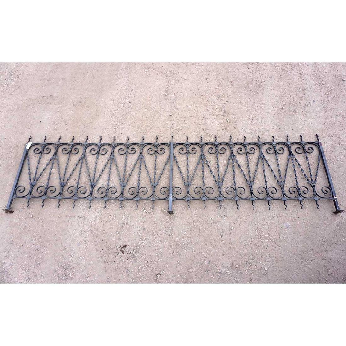 American Victorian Style Wrought Iron Fence Panel