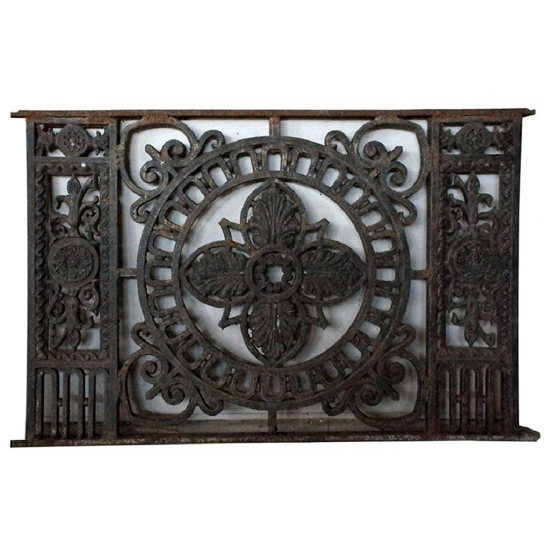 French Cast Iron Grille Panel