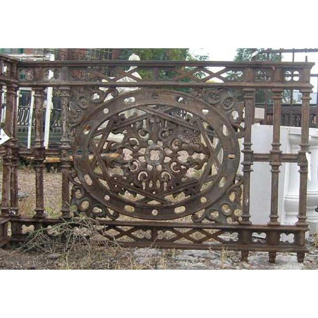 English Aesthetic Movement Cast Iron Balcony