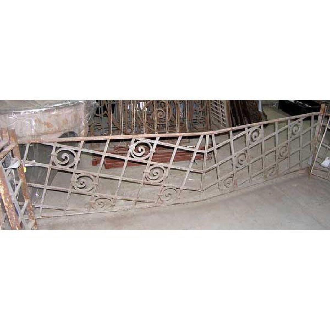 French Colonial Art Deco Wrought Iron Grille