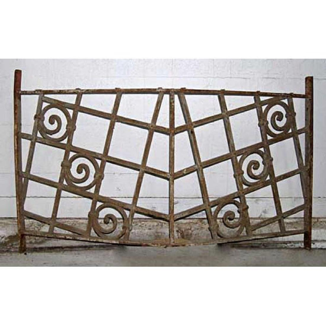 French Colonial Art Deco Wrought Iron