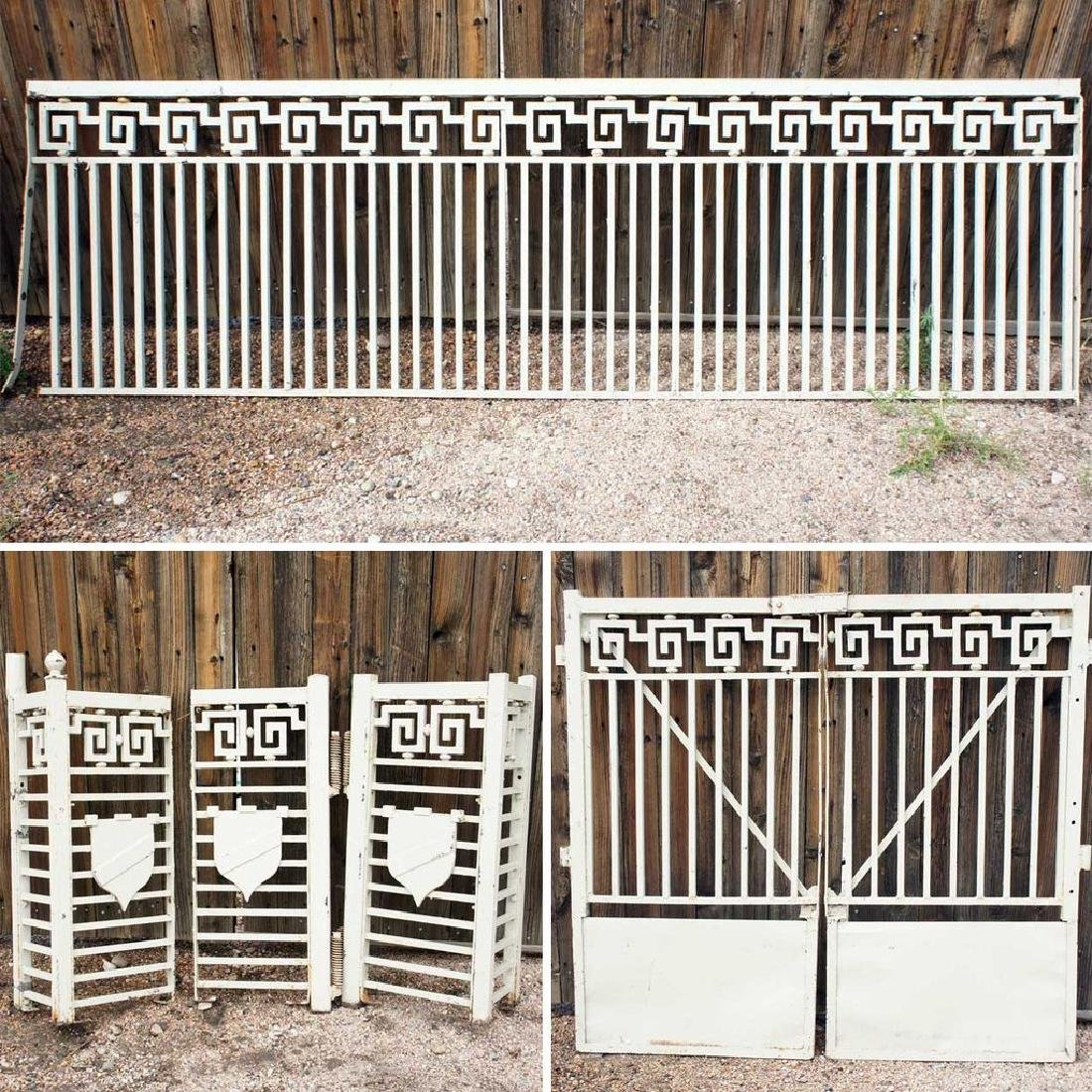 Six-Piece American Neoclassical Fence Panels