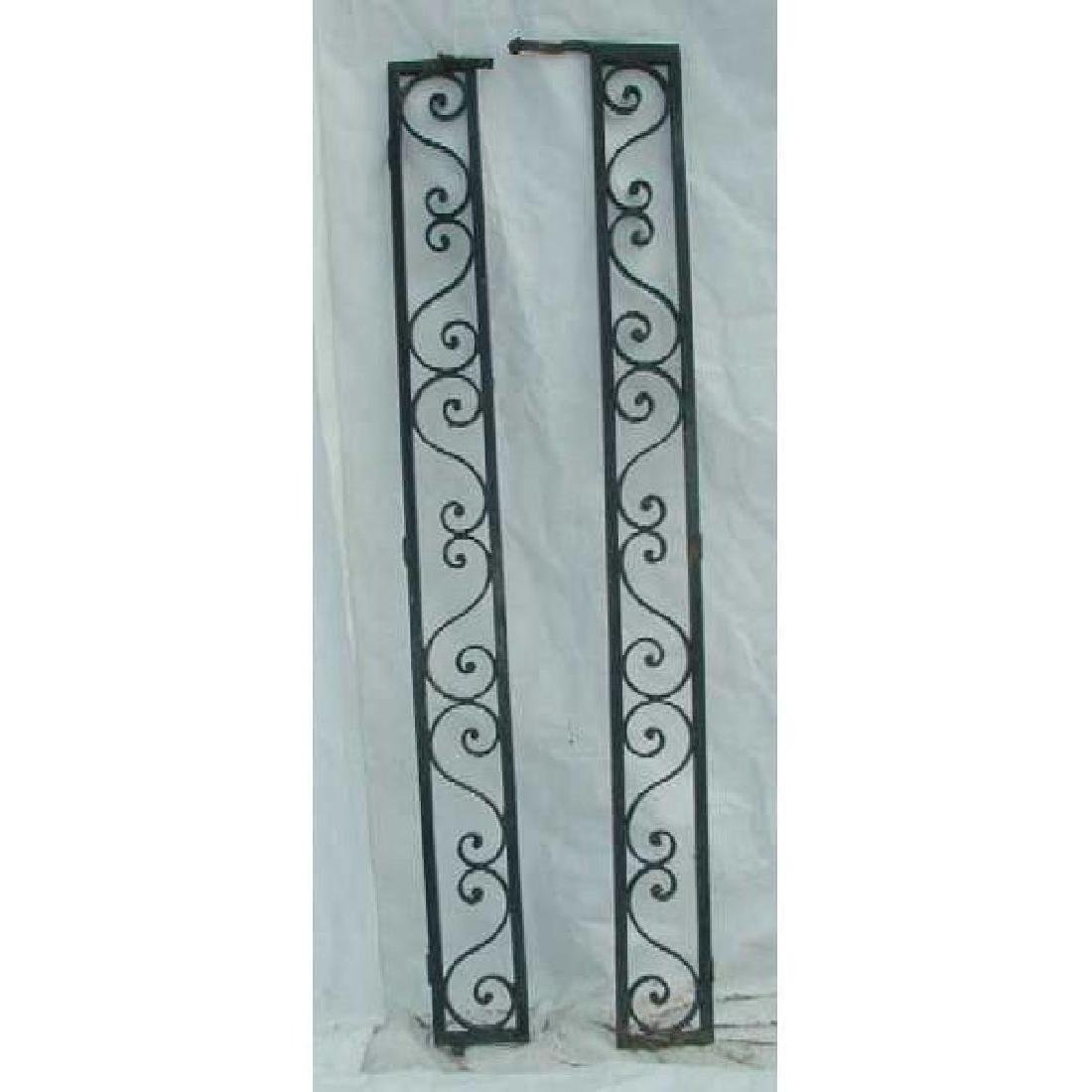 Pair of American Wrought Iron Grille Panels