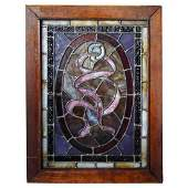 Small American Victorian Stained Glass Window