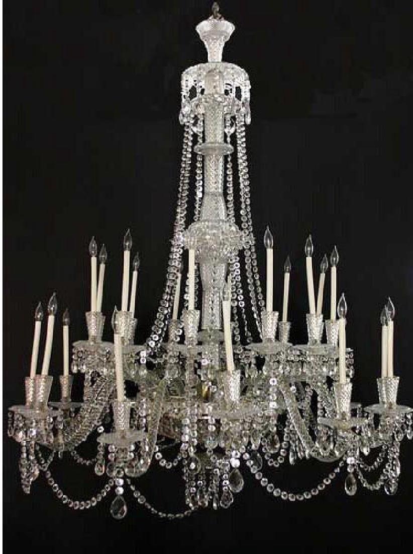 Large Vintage French Crystal Chandelier