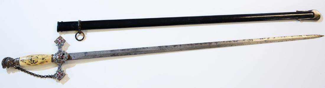 Fraternal Sword Awarded to Masons
