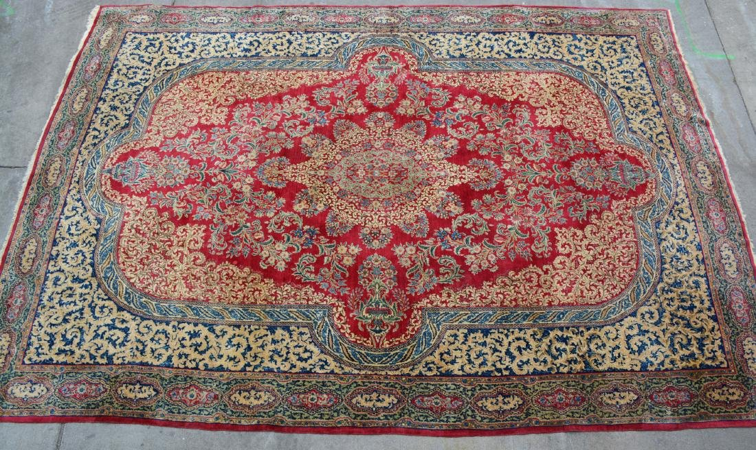 Kerman Style Antique Wool Carpet
