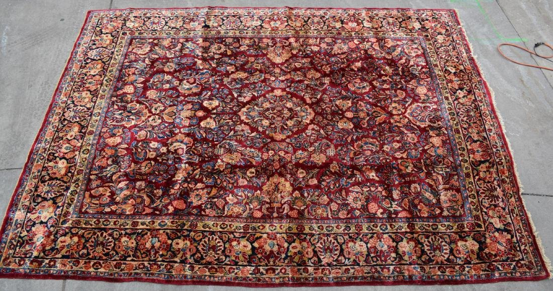 Sarouk  Style Antique Wool Carpet