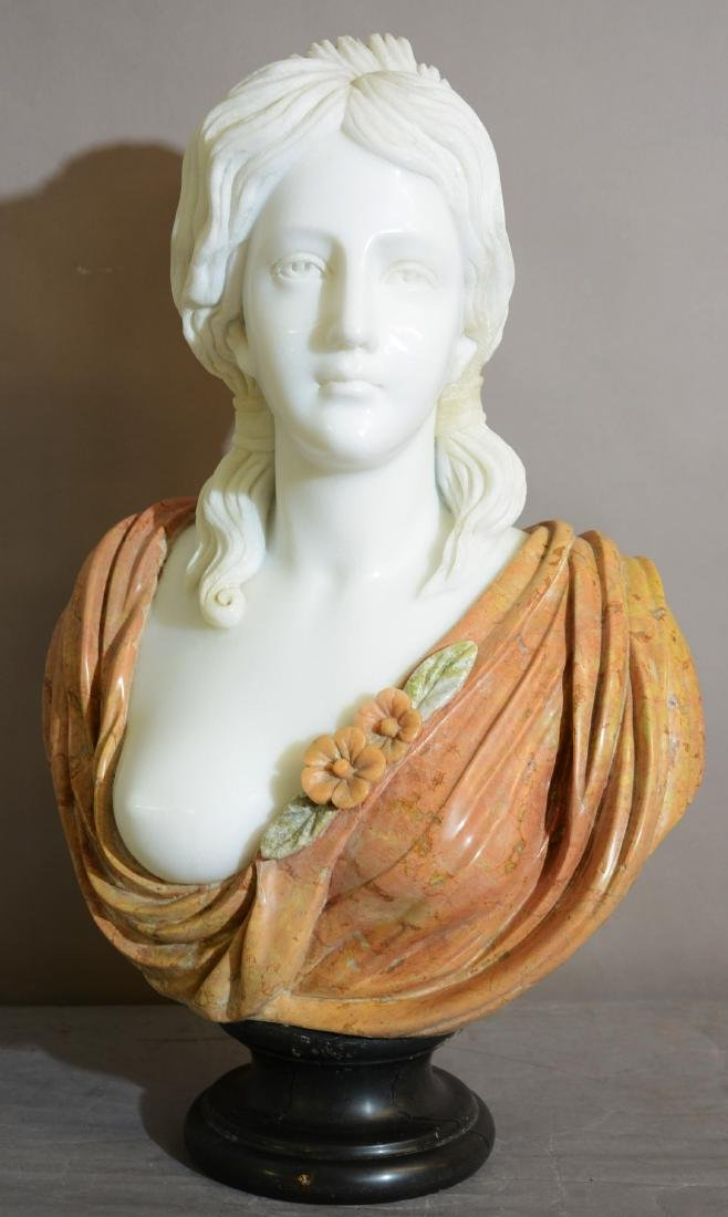 Italian Marble Bust of Greek Goddess