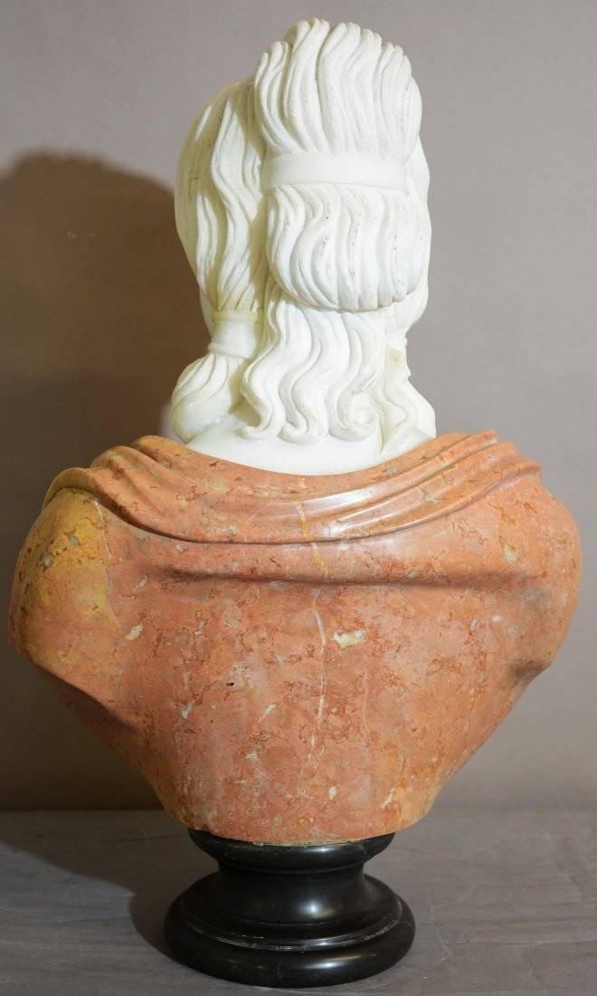 Italian Marble Bust of Greek Goddess - 2