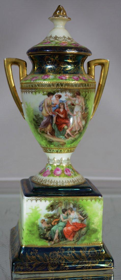 Royal Vienna Porcelain Covered Vase