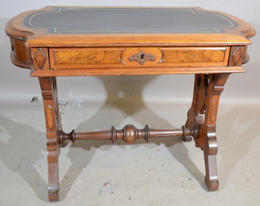 American Renaissance Walnut Library Table