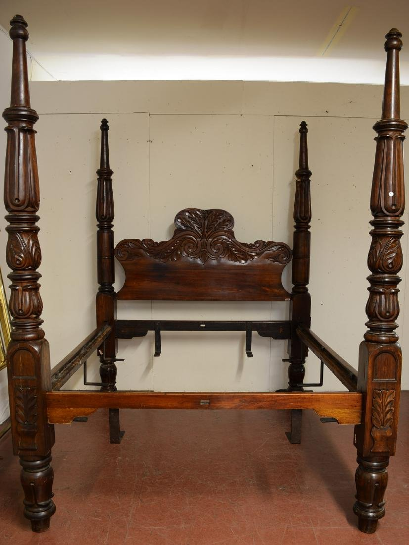 Victorian Colonial Style Four Poster Rosewood Bed
