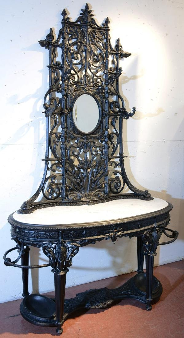 Coalbrookale Style Cast Iron Garden Hall Stand