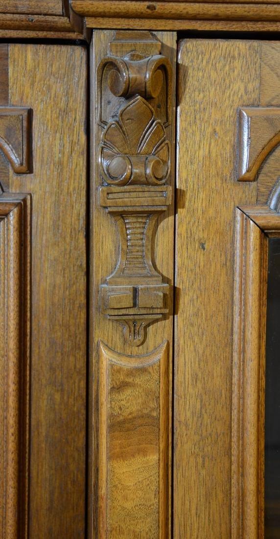 American Walnut Renaissance Style Bookcase - 2