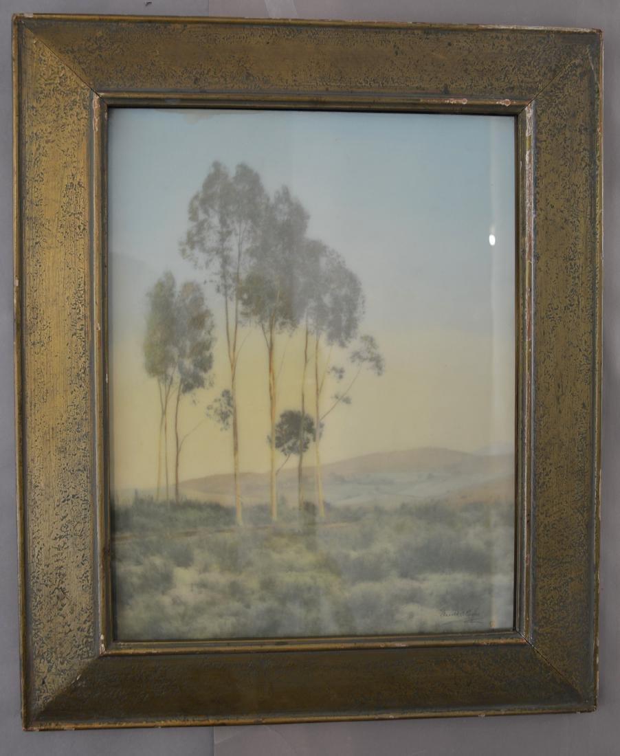Harold A Taylor Landscape Watercolor on Board