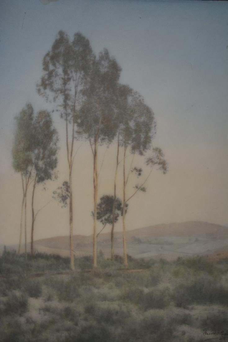Harold A Taylor Landscape Watercolor on Board - 2