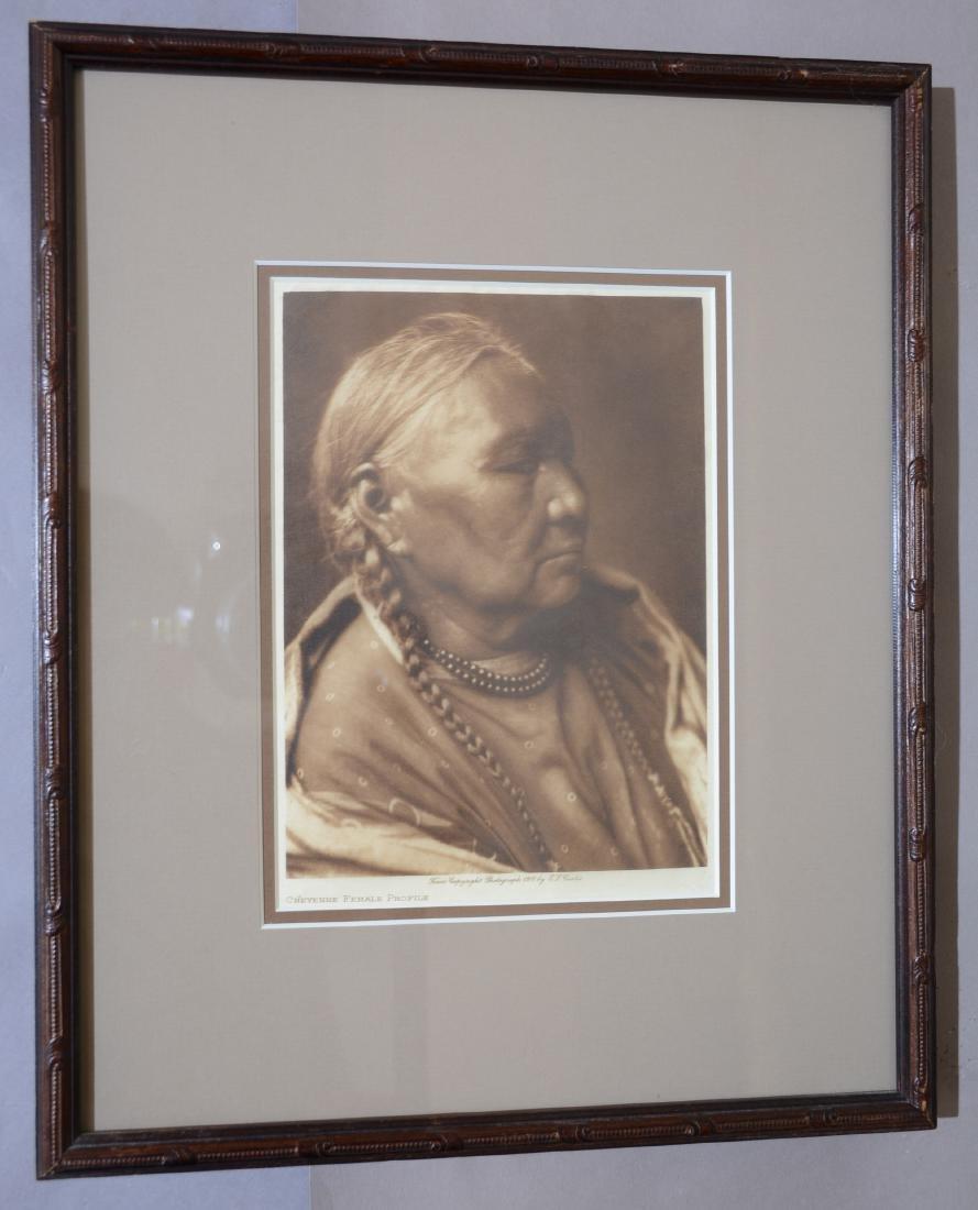 """Edward S. Curtis """"Cheyenne Female Profile"""""""