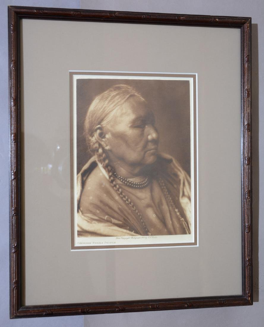 "Edward S. Curtis ""Cheyenne Female Profile"""