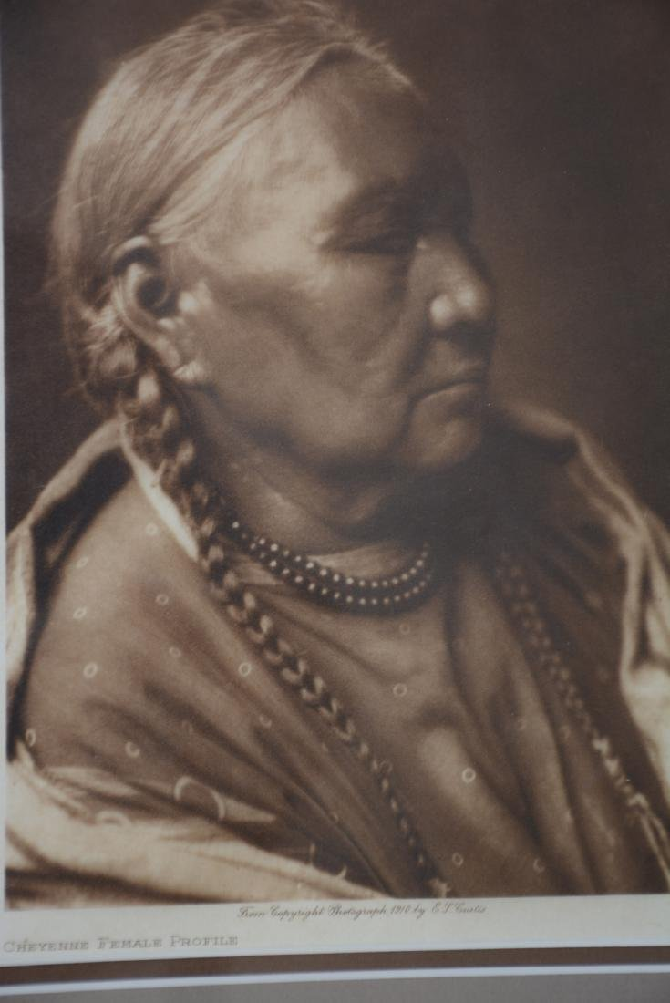 "Edward S. Curtis ""Cheyenne Female Profile"" - 2"
