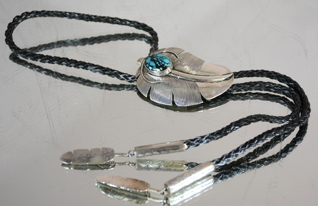 Navajo Mans Sterling & Turqouise Bolo Tie