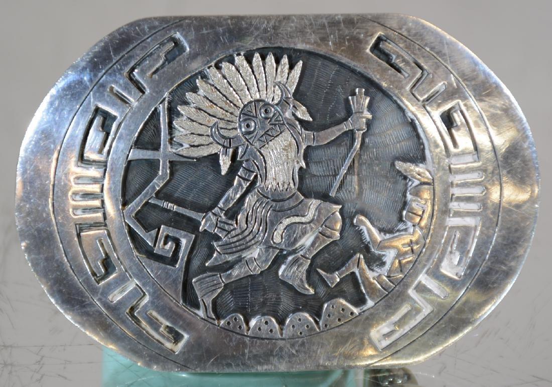 Hopi Steling Silver Belt Buckle