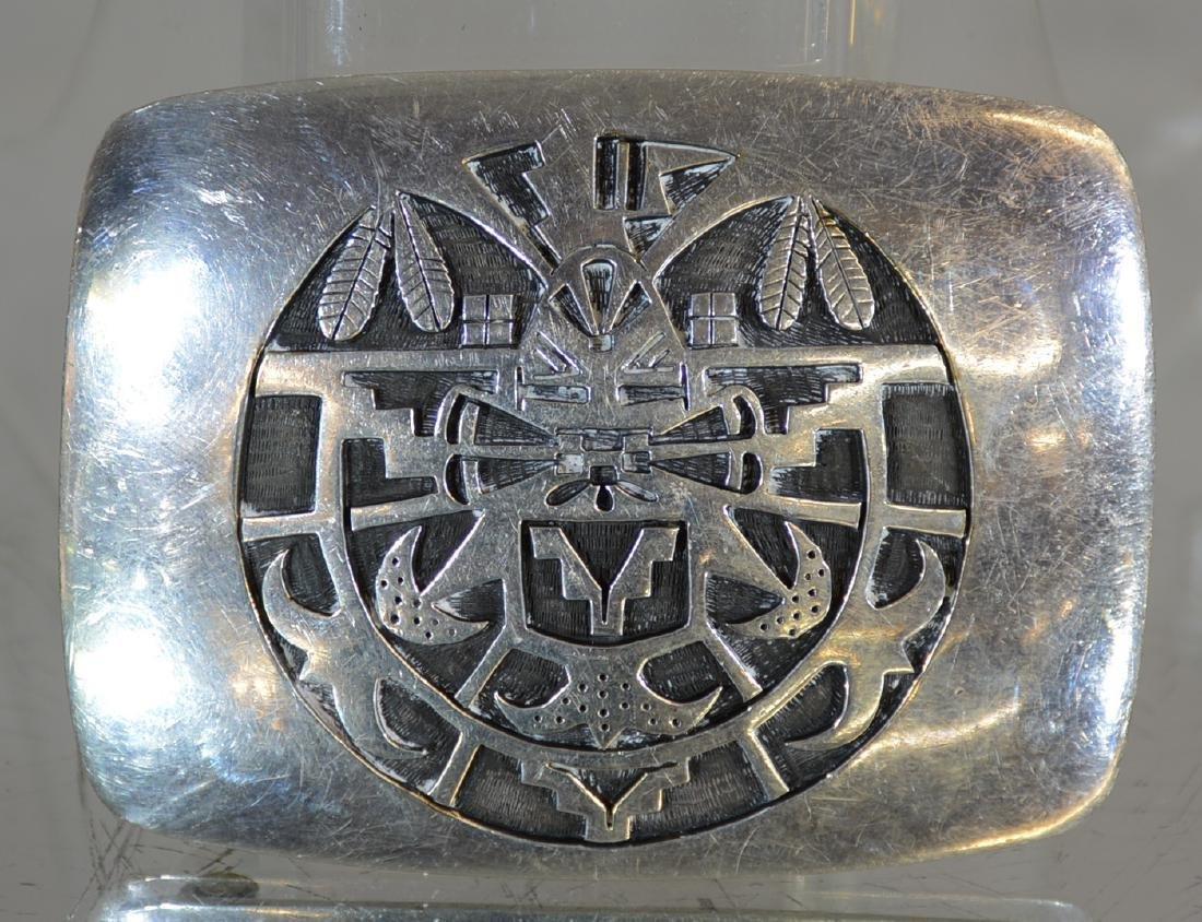 Hopi Sterling Silver Belt Buckle