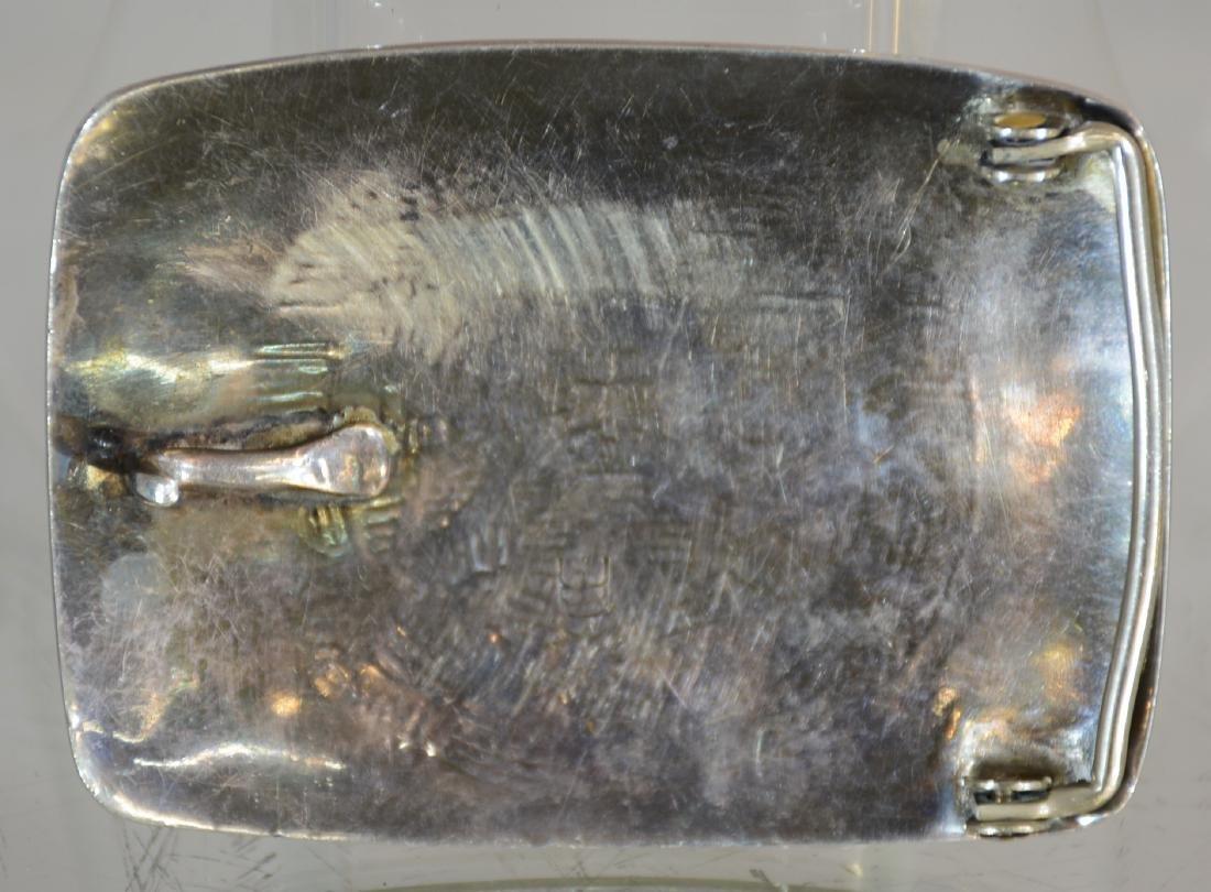 Hopi Sterling Silver Belt Buckle - 2