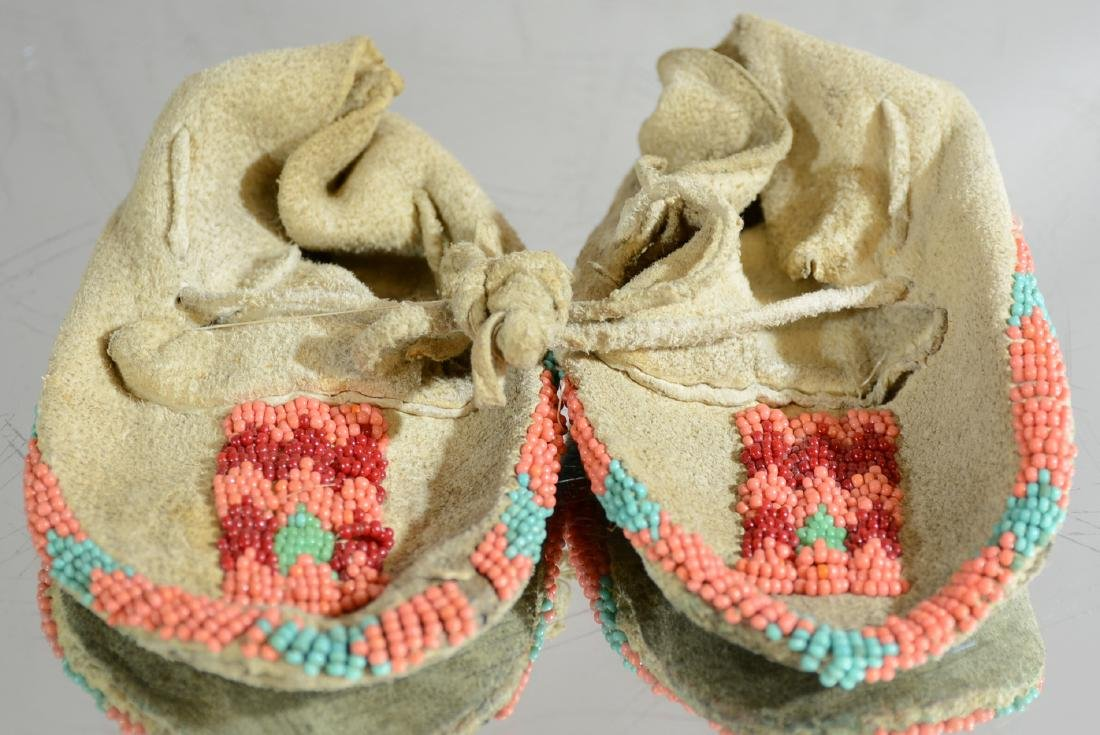 Native American Beaded Childrens Moccasins