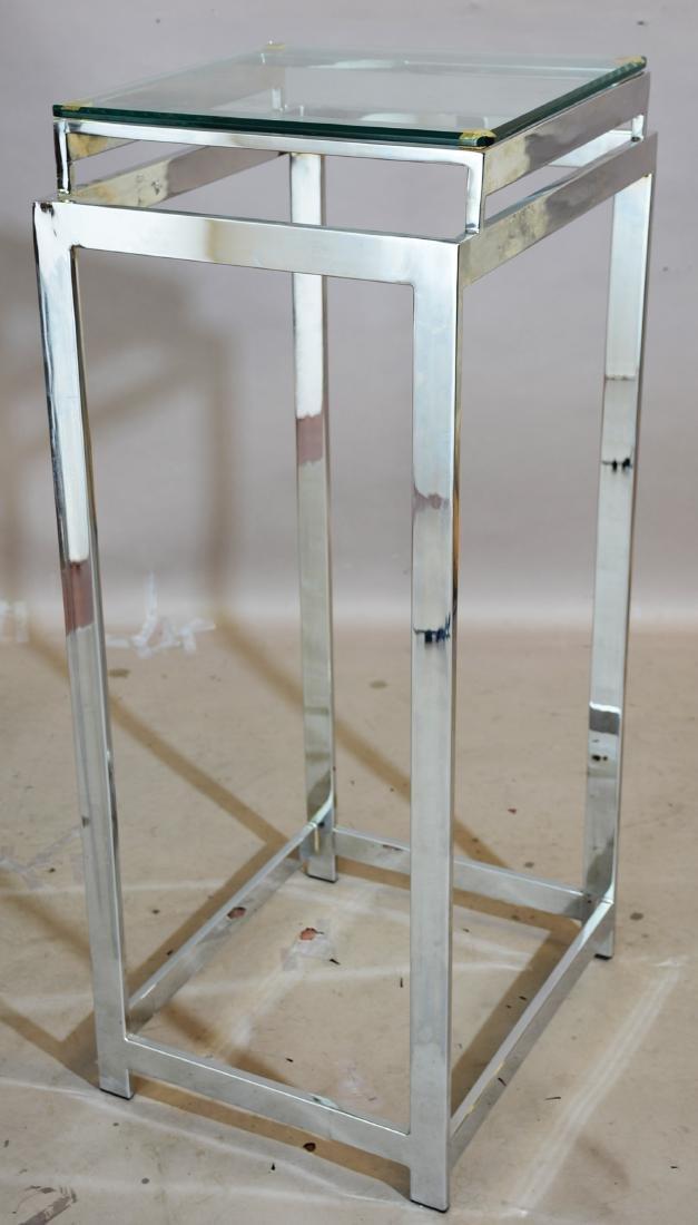 Modern Design Chrome & Steel Pedestal