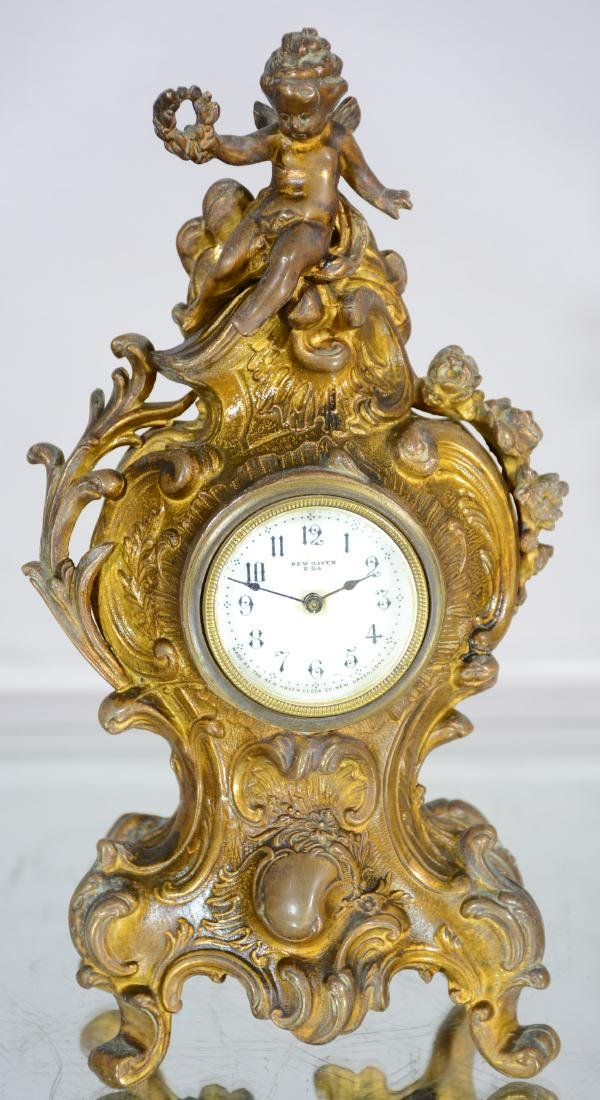 New Haven Novelty Clock in French Louis XV Style