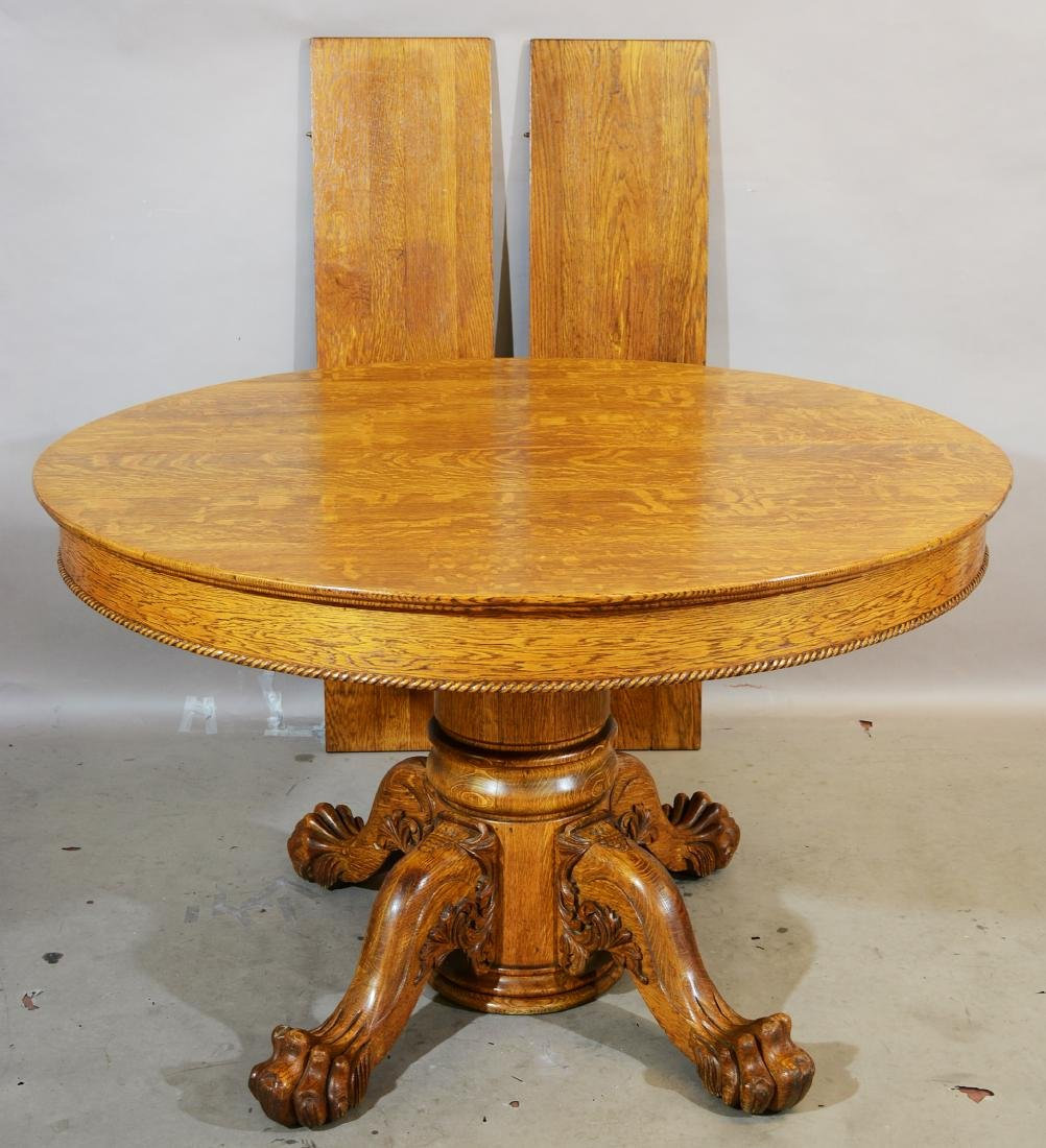 Turn of the Century Round Oak Dinning Table