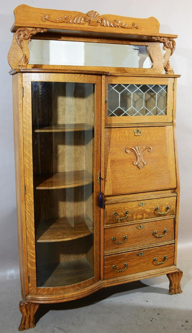 Turn of the Century Oak Side by Side Secretary