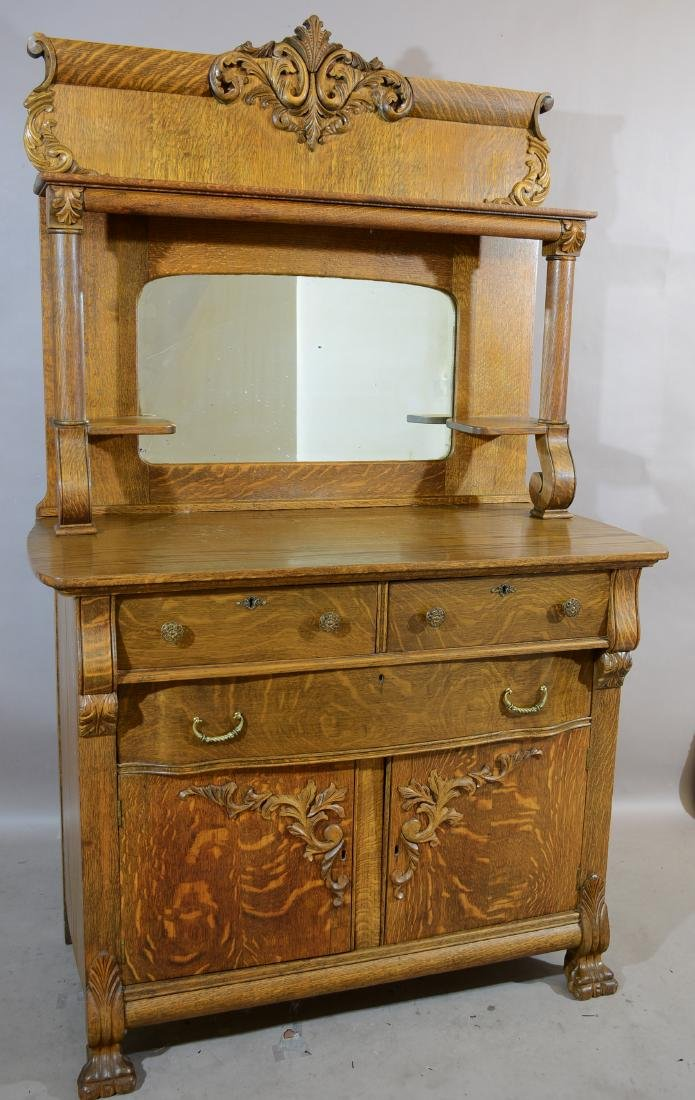 Turn of the Century Oak Sideboard