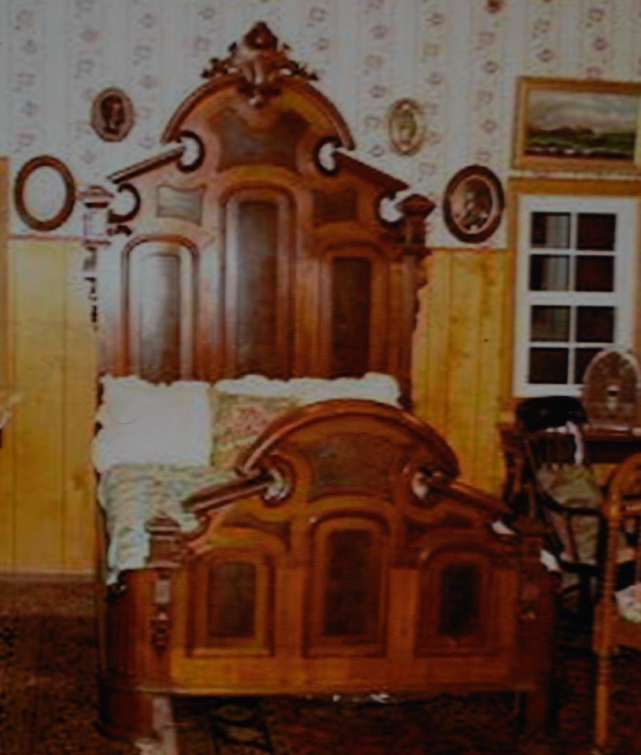 American Renaissance Walnut Bed