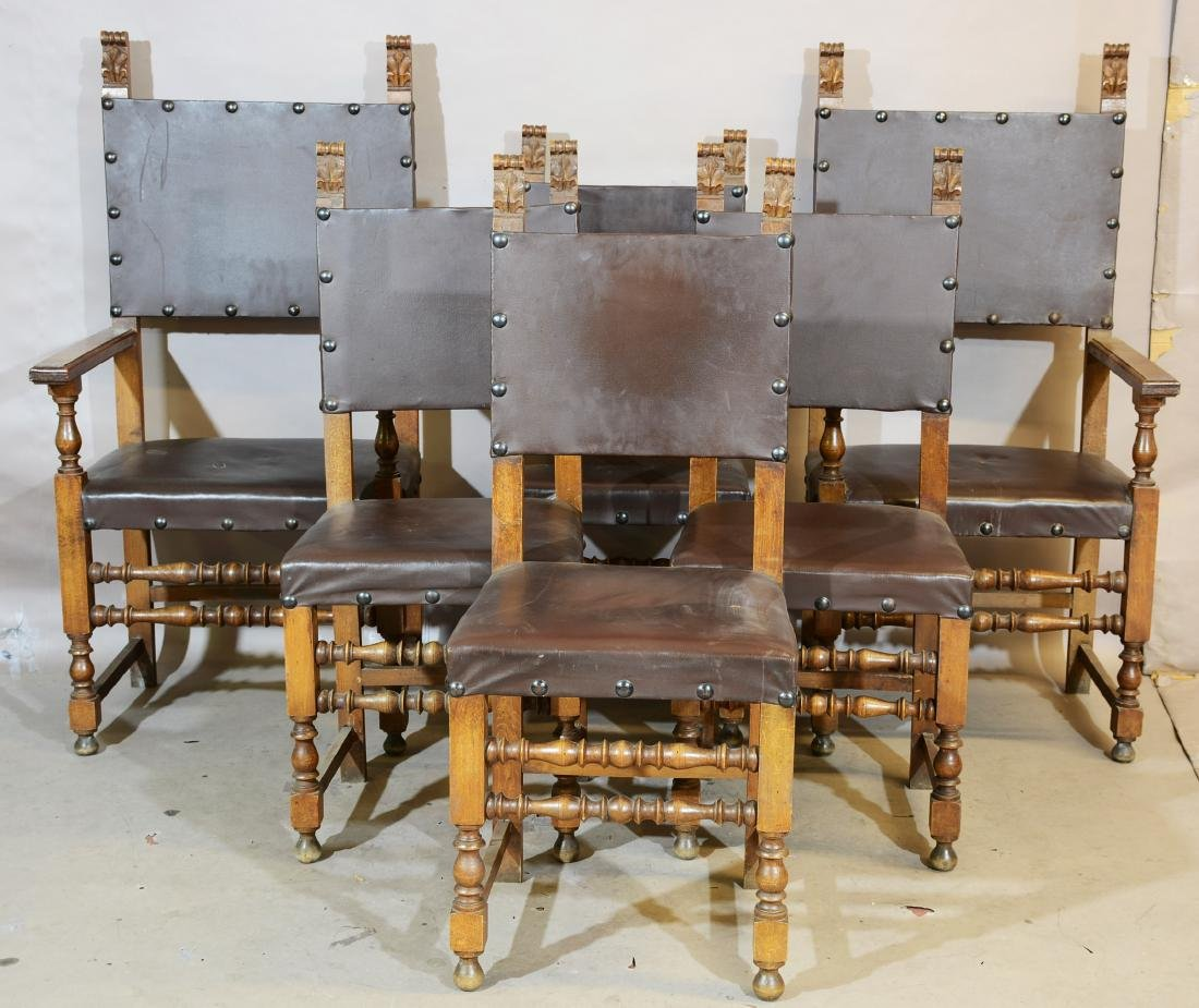 Set of six Walnut Chairs