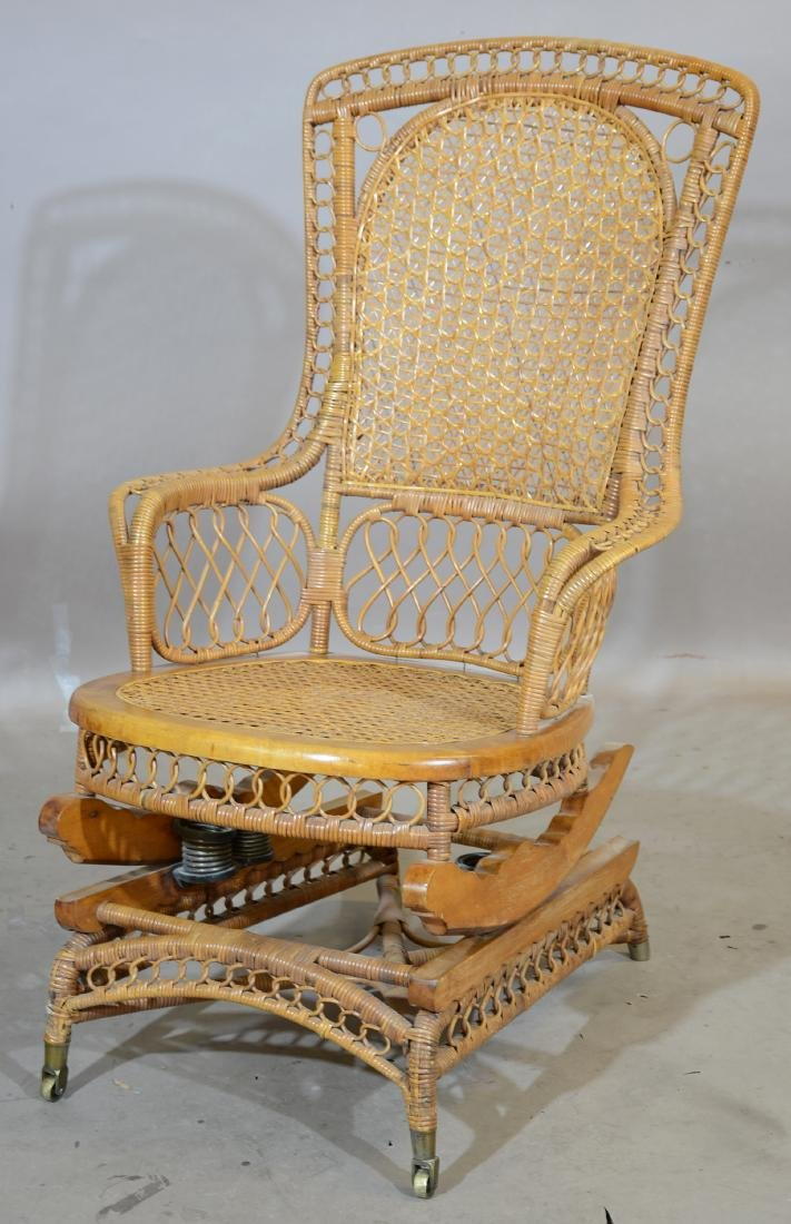 American Victorian Style Ladies Rocking Chair