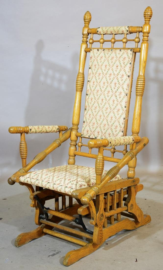 Gentlemens Eastlake Style Rocking Chair