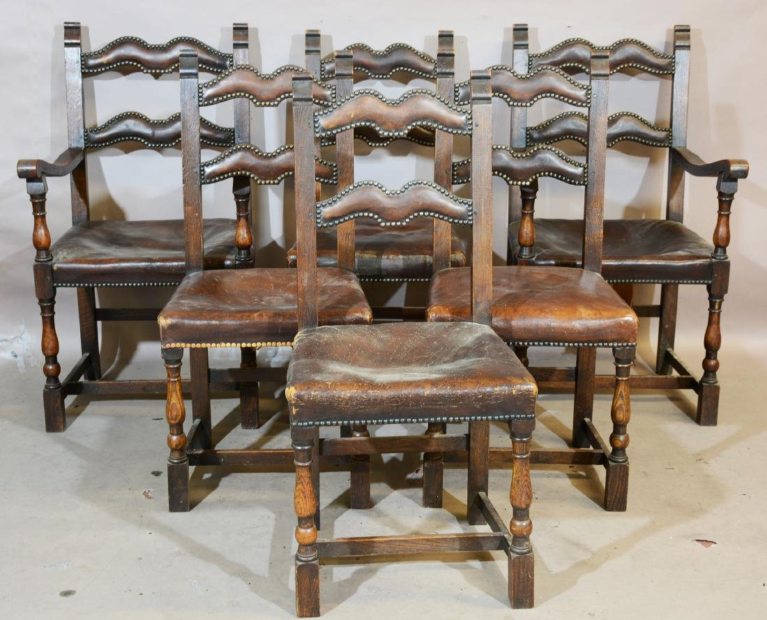 Set of Six Early French Provincial Style Chairs