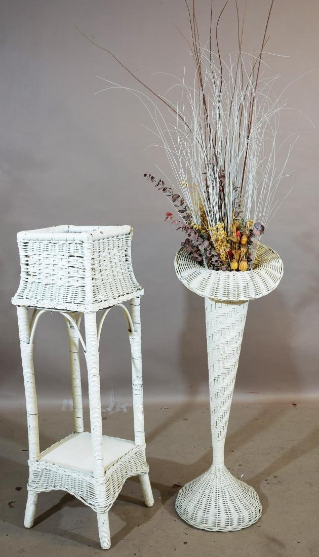 Two Wicker Plant Stands
