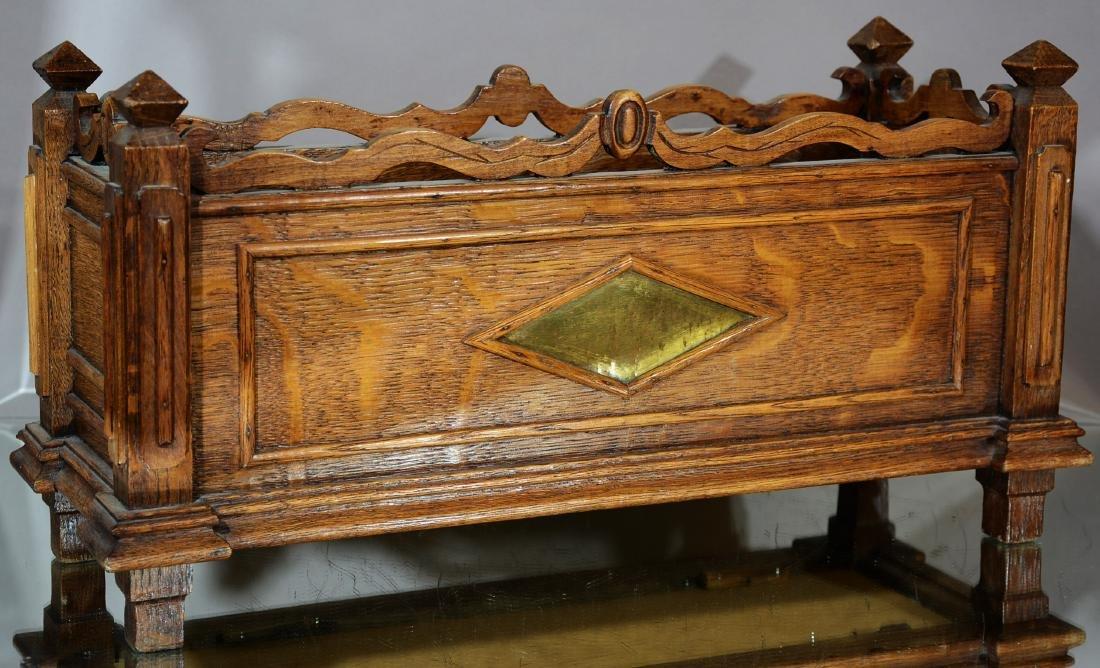 Turn of the Century Renaissance Style Oak Planter
