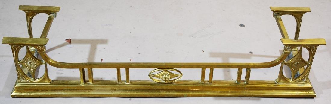1920's Style Brass Fireplace Fender