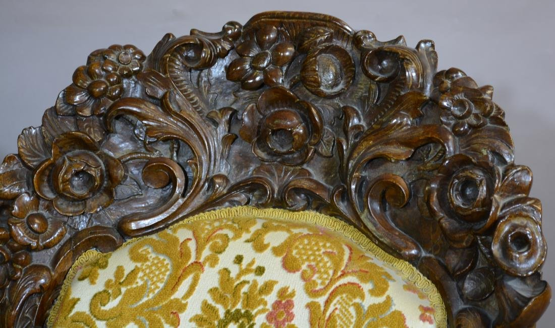 Rococo Style Rosewood Parlor Chair - 3