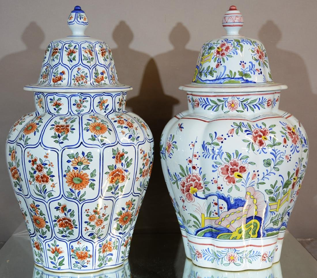 Two French Tiffany Palace Covered Jars