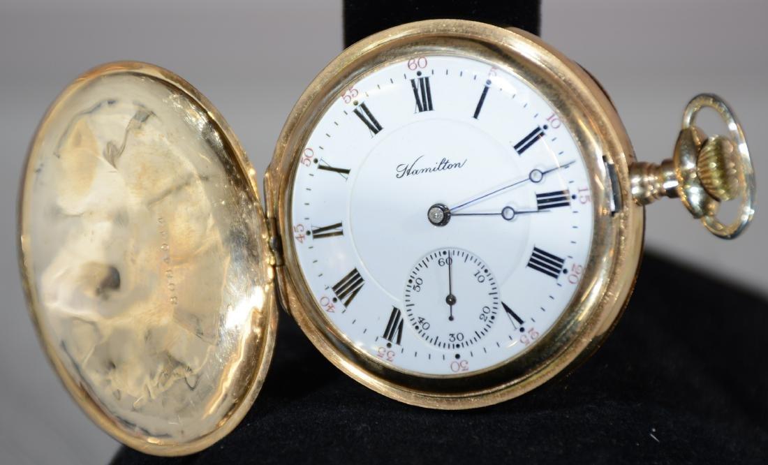 Hamilton Hunting Case 17 Jewel Mens Pocket Watch