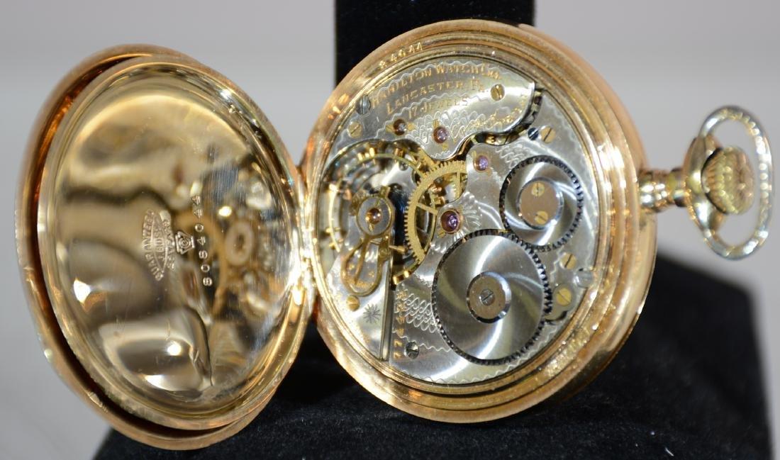 Hamilton Hunting Case 17 Jewel Mens Pocket Watch - 2